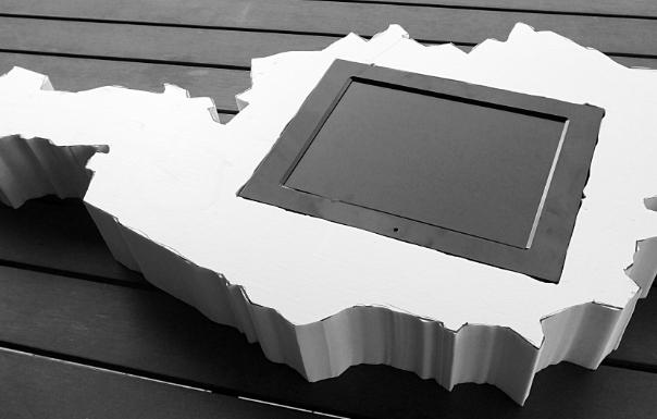 Eingepasster Bildschirm in das geschnittene Objekt