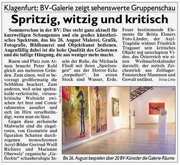 Artikel Kronen Zeitung 23.08.2015